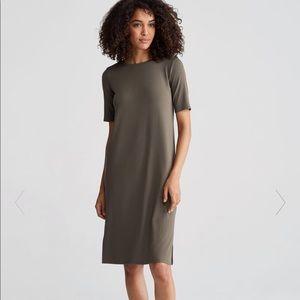 Eileen Fisher Dress Viscose Jersey Round Neck NWT